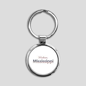 Custom Mississippi Round Keychain