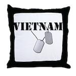 Vietnam Dog Tags Throw Pillow