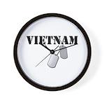 Vietnam Dog Tags Wall Clock