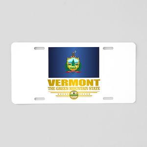 Vermont Flag (v15) Aluminum License Plate