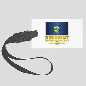 Vermont Flag (v15) Luggage Tag