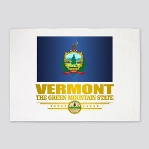 Vermont Flag (v15) 5'x7'Area Rug