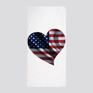 AM HEART Beach Towel