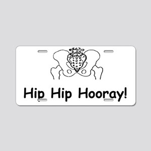 Hip Hip Hooray Aluminum License Plate