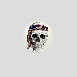 Skull America Mini Button