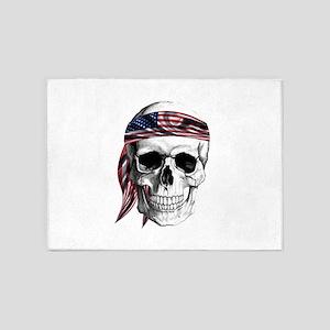 Skull America 5'x7'Area Rug