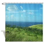 Maui Meadow Trees Shower Curtain