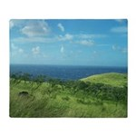 Maui Meadow Trees Throw Blanket