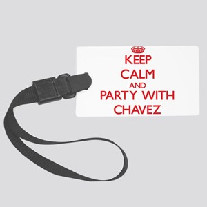 Keep calm and Party with Chavez Luggage Tag