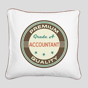 Accountant Vintage Square Canvas Pillow