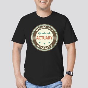 Actuary Vintage Men's Fitted T-Shirt (dark)