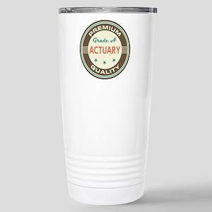 Actuary Vintage Stainless Steel Travel Mug
