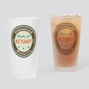 Actuary Vintage Drinking Glass