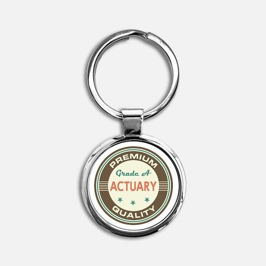 Actuary Vintage Round Keychain