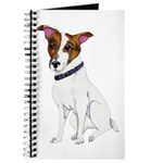 Water-color Jack Russell Terrier Journal