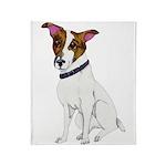 Water-color Jack Russell Terrier Throw Blanket