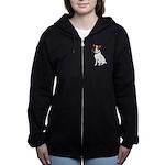 Water-color Jack Russell Terrier Women's Zip Hoodi