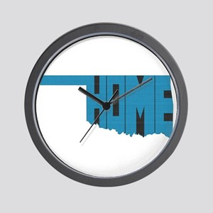 Oklahoma Home Wall Clock