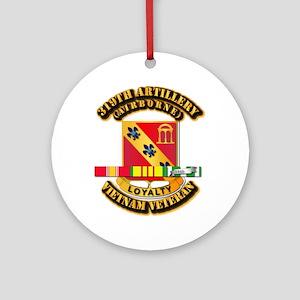 319th Field Artillery (Airborne) Ornament (Round)