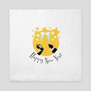 Happy New Year Queen Duvet