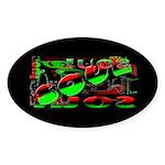 Soul Dark Oval Sticker