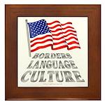 Borders Language Culture Framed Tile