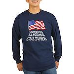 Borders Language Culture Long Sleeve Dark T-Shirt