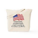 Borders Language Culture Tote Bag