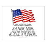 Borders Language Culture Small Poster