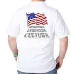 Borders Language Culture Golf Shirt