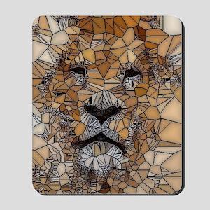 Lion mosaic 001 Mousepad