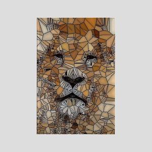 Lion mosaic 001 Rectangle Magnet