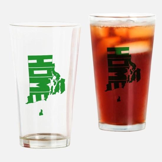 Rhode Island Home Drinking Glass