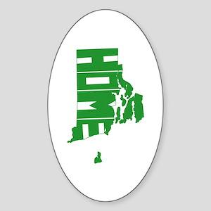 Rhode Island Home Sticker (Oval)