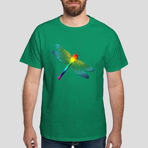 Rainbow Dragonfly Dark T-Shirt