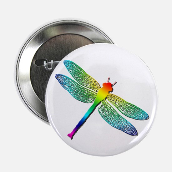 "Rainbow Dragonfly 2.25"" Button"