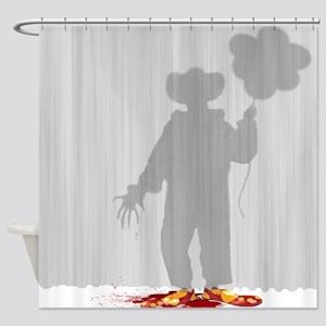 Evil Clown Shower Curtain