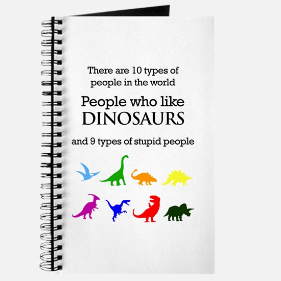 Ten Types Of People (Dinosaurs) Journal