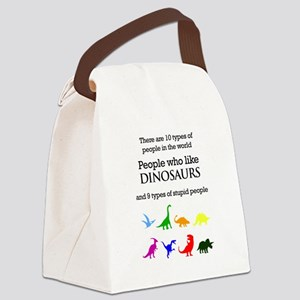 Ten Types Of People (Dinosaurs) Canvas Lunch Bag