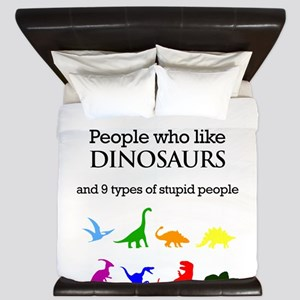 Ten Types Of People (Dinosaurs) King Duvet