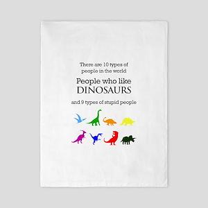 Ten Types Of People (dinosaurs) Twin Duvet