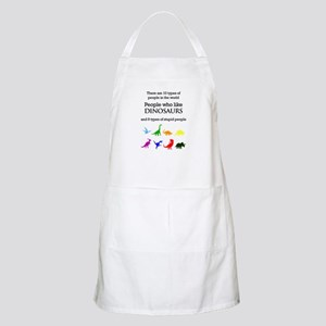 Ten Types Of People (Dinosaurs) Apron