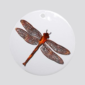 Fire Dragonfly Ornament (Round)