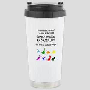 Ten Types Of People (Dinosaurs) Stainless Steel Tr