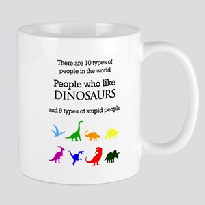Ten Types Of People (Dinosaurs) Mugs