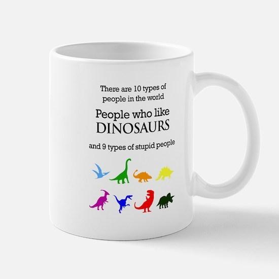 Ten Types Of People (Dinosaurs) Mugs
