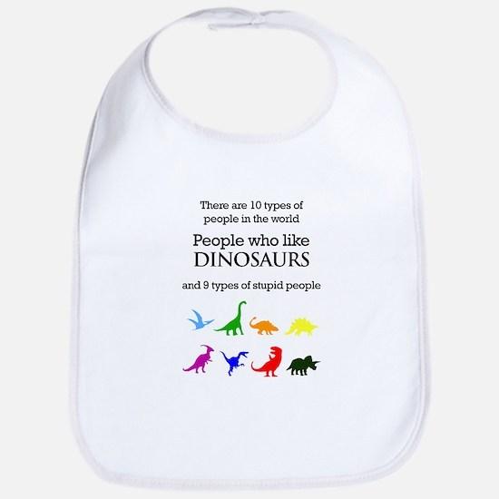 Ten Types Of People (Dinosaurs) Bib