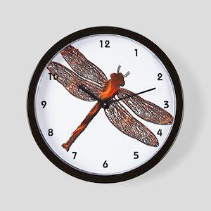 Fire Dragonfly Wall Clock