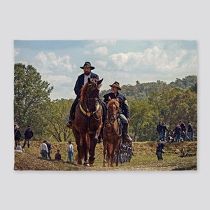 Weary Union Soldiers 5'x7'Area Rug