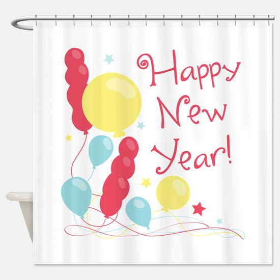 Happy New Year! Shower Curtain